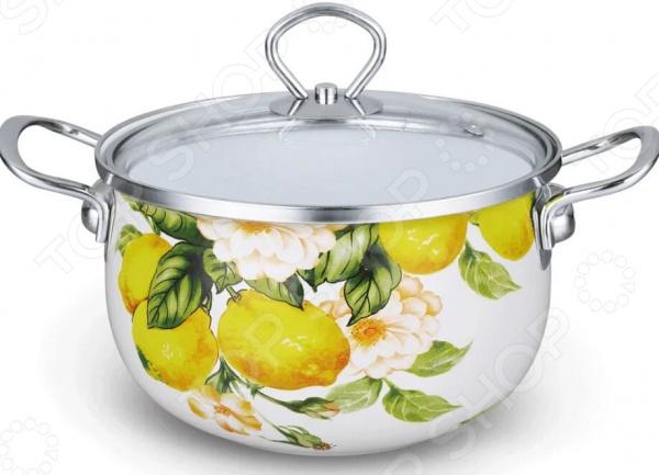 Кастрюля эмалированная Kelli KL-4439 «Лимоны»