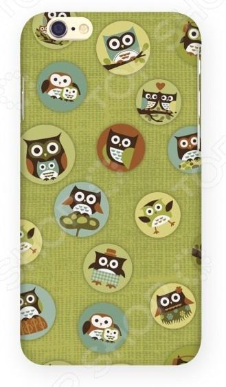 Чехол для IPhone 6 Mitya Veselkov «Совы». Цвет фона: зеленый чехлы для телефонов mitya veselkov чехол для iphone 5 совы на великах
