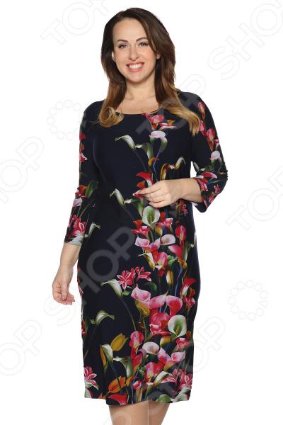 Платье Лауме-Лайн «Конфетка». Цвет: темно-синий
