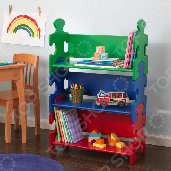 Стеллаж детский KidKraft Puzzle Book Shelf Primary 1