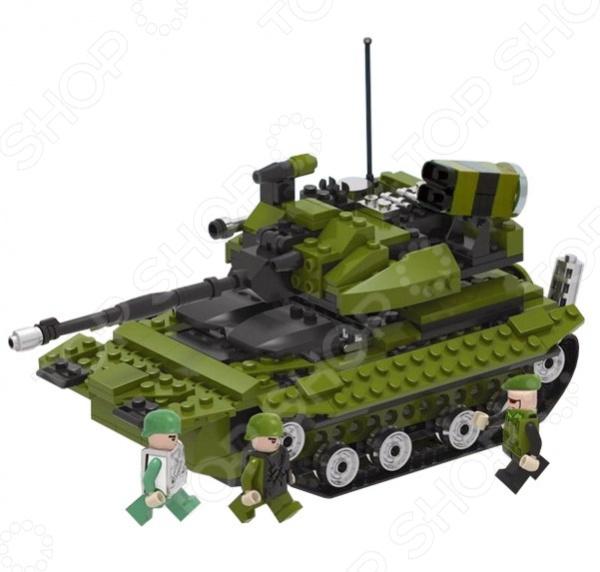 Конструктор игровой 1 Toy Военная техника. Боевой танк обязательно понравится вашему ребенку. Конструктор для ребенка это один из основных способов развития и познания. А еще готовая модель в собранном виде будет отличной готовой игрушкой для сюжетно-ролевых игр. В процессе игры с конструктором ребенок развивает воображение, пространственное и образное мышление, мелкую моторику рук и чувство равновесия. В комплект входят 260 деталей для сборки боевого танка и 4 фигурки.