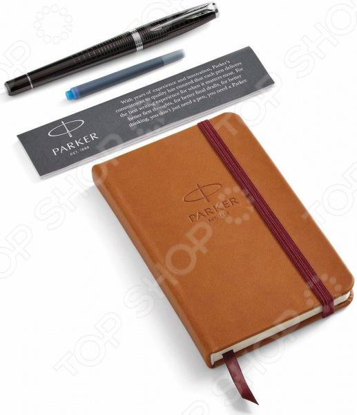 Набор подарочный: ручка перьевая и блокнот Parker Urban Premium Ebony Metal CT