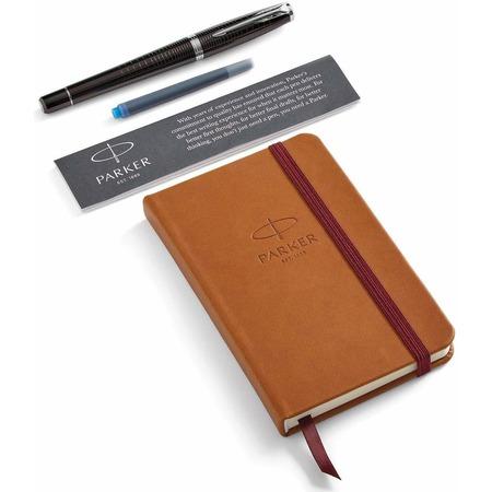 Купить Набор подарочный: ручка перьевая и блокнот Parker Urban Premium Ebony Metal CT