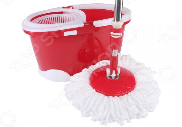 Комплект для уборки полов: швабра, ведро с отжимом Rosenberg RPL-800005
