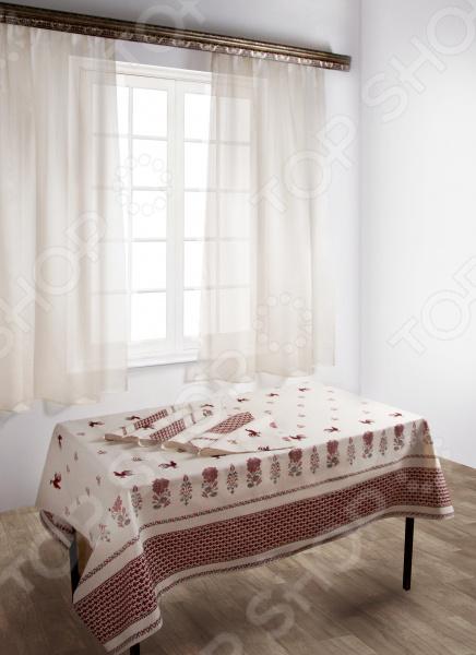 Комплект: скатерть с салфетками и шторы Zlata Korunka 55627