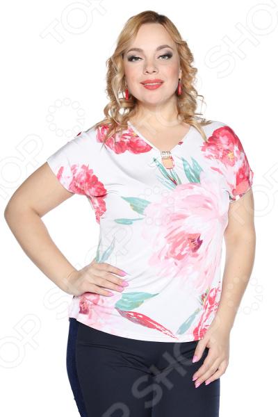 Блузка VEAS «Девушка-загадка». Цвет: белый