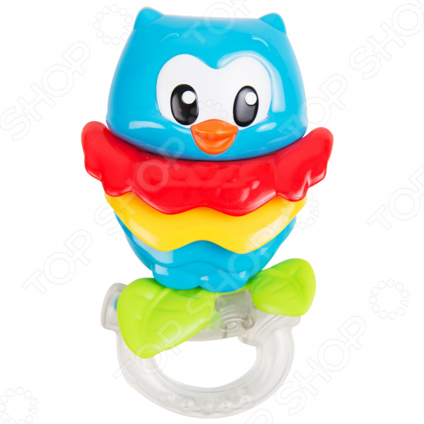 Игрушка-погремушка Clementoni «Сова» погремушка сова