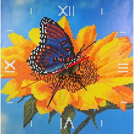 Купить Часы из алмазной мозаики Color Kit «Подсолнух»