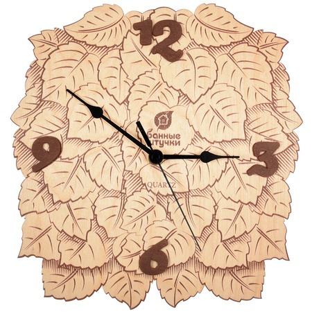 Купить Часы для бани Банные штучки «Листья» 32367