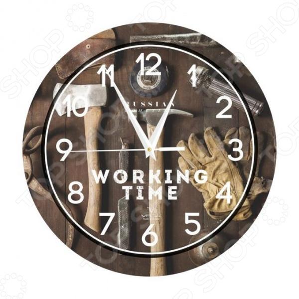 Часы настенные Вега П 1-293/7-293 «Мастерская» часы настенные вега п 4 14 7 86 новогодние подарки