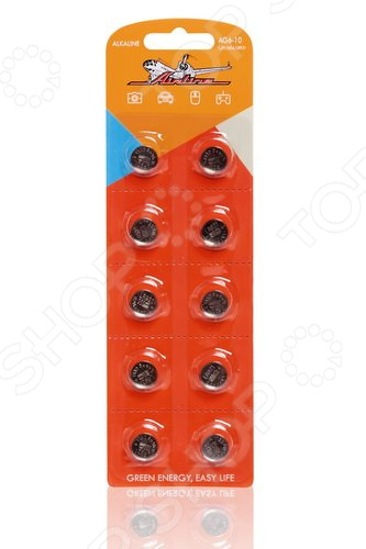 Набор батареек щелочных Airline AG6/LR921 набор батареек щелочных airline ag12 lr43