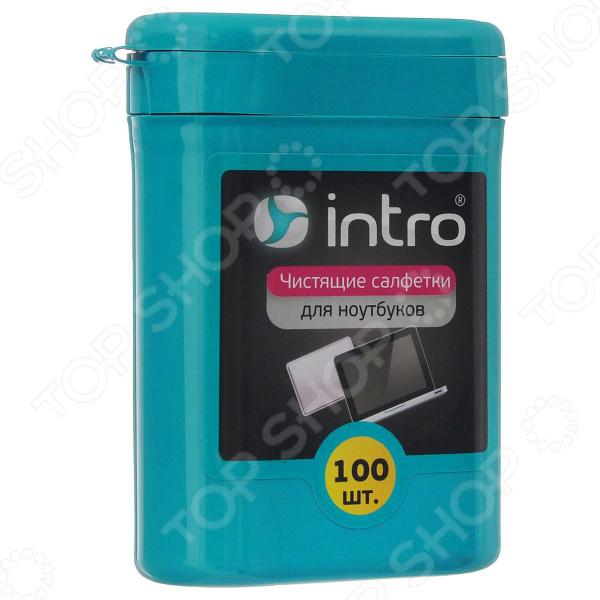 Набор салфеток чистящих Intro для ноутбуков набор салфеток влажных для холодильников и микроволновых печей авангард hl 48152 house lux