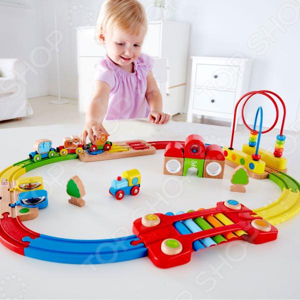 Музыкальная железная дорога Hape «Радужная головоломка»