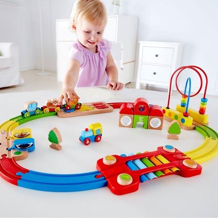 Купить Музыкальная железная дорога Hape «Радужная головоломка»