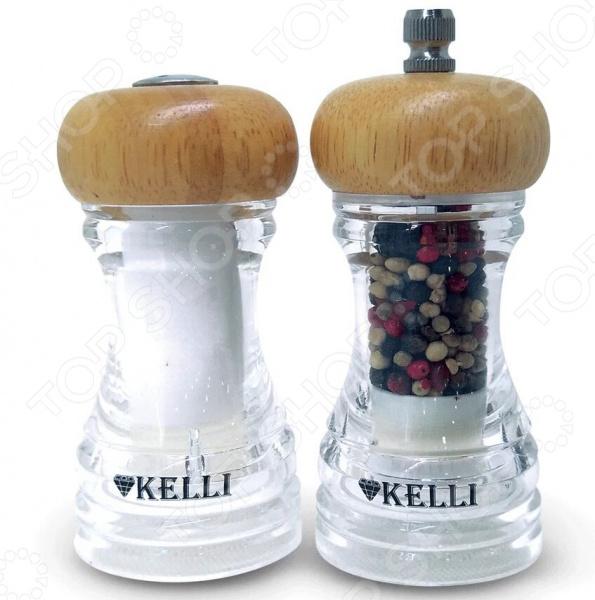 Набор:мельница для перца и солонка Kelli KL-11107 blue sky набор соль перец принц фрогги