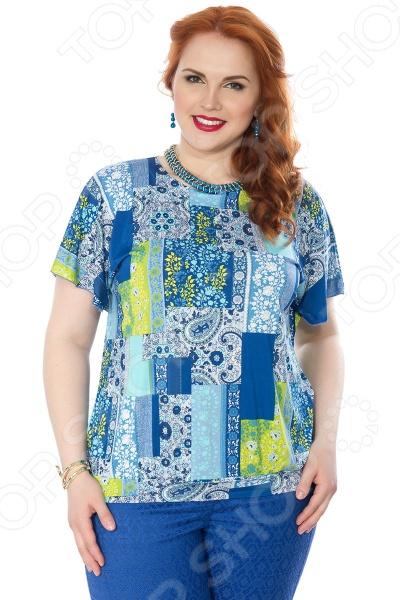 Блуза Wisell «Южный ветер». Цвет: голубой, синий падение сквозь ветер