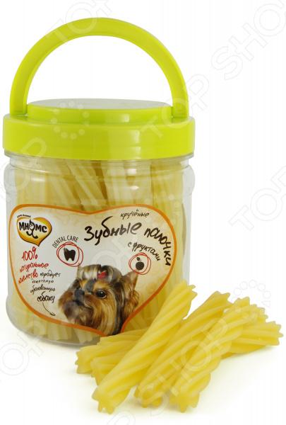 Лакомство для собак Мнямс «Крученые зубные палочки с фруктами»