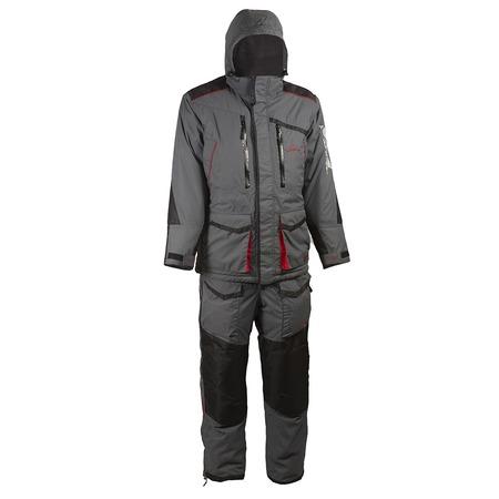 Купить Костюм для рыбалки зимний Huntsman Siberia Breathable. Цвет: серый, черный