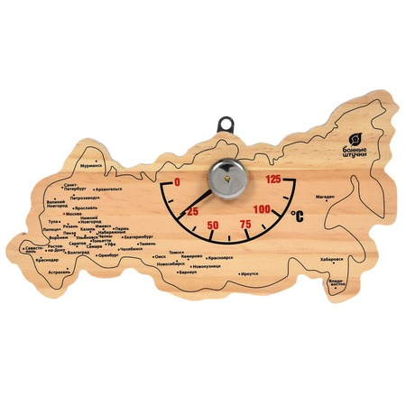 Купить Термометр для бани и сауны Банные штучки «Карта России»