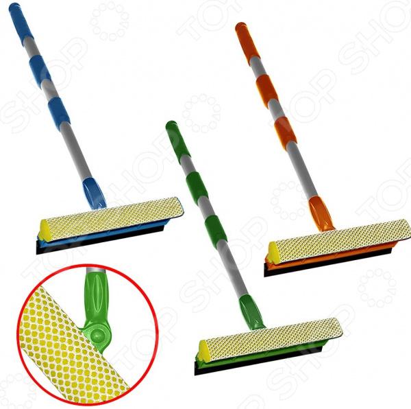 Щетка для мытья окон с телескопической ручкой Мультидом средняя. В ассортименте щетка для мытья окон с телескопической ручкой мультидом средняя в ассортименте
