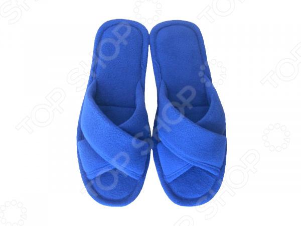 Тапочки с открытым носком Dream Time SL-157. Цвет: синий