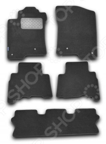 Комплект ковриков в салон автомобиля Novline-Autofamily Lexus GX 460 2010 внедорожник. Цвет: черный комплект 3d ковриков в салон автомобиля novline autofamily volkswagen touareg 2010 2015 2015