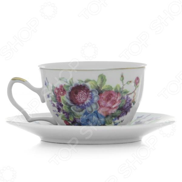 Чайная пара Loraine LR-24597 «Розы»