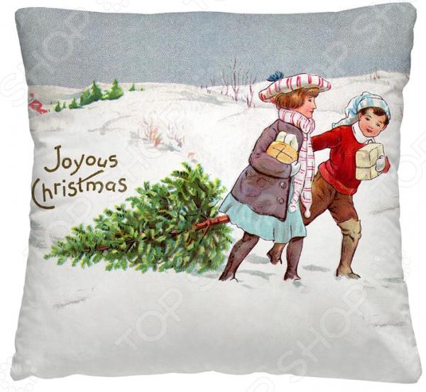 Подушка декоративная Волшебная ночь «За елкой»