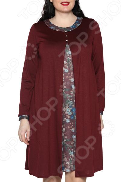 Платье ТРЕНД «Вдохновение». Цвет: бордовый платье тренд стильный силуэт цвет бордовый