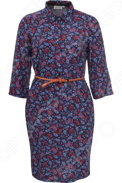 Платье Finn Flare B17-12053. Цвет: темно-синий
