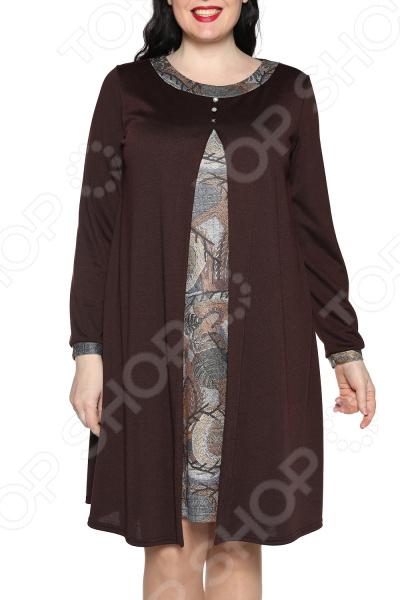 Платье ТРЕНД «Вдохновение». Цвет: коричневый платье тренд стильный силуэт цвет бордовый