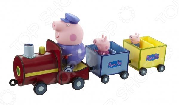 Игровой набор с фигурками Peppa Pig «Паровозик дедушки Пеппы» игровой набор peppa pig особняк семьи пеппы с 3 фигурками 35360
