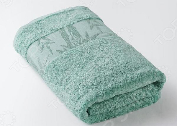 Полотенце махровое Ecotex «Бамбук». Цвет: бирюзовый