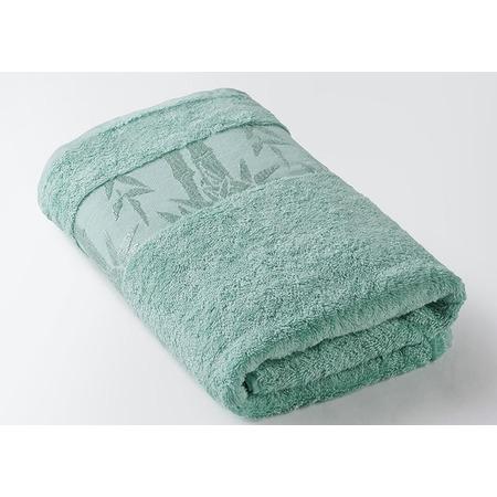 Купить Полотенце махровое Ecotex «Бамбук». Цвет: бирюзовый