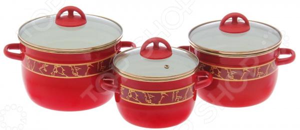 Набор посуды Эмаль «Полонез»