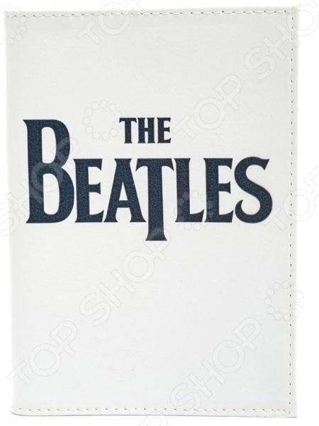 Обложка для паспорта кожаная Mitya Veselkov «The Beatles на белом»