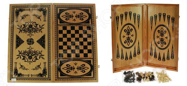 Игра настольная 2 в 1: нарды и шахматы 24524 станет идеальным решением для проведения своего свободного времени с пользой для ума и логики. Особенность данной настольной игры в том, что она может использовать в качестве игрового поля для нард и шахмат. Для этого достаточно просто перевернуть игровое поле и выбрать нужный вариант. Данный набор станет прекрасным решением бесконечного вопроса, что же подарить мужчине, папе, начальнику или хорошему другу. Нарды древняя восточная игра, которая раньше имела тайный символический характер. Сейчас в нарды играют и дети, и взрослые. С её помощью вы без труда натренируете свою логику, внимательность, стратегическое мышление и дальновидность. Шахматы ничем не уступают нардам в азарте и пользе. С ней вы сможете расширить кругозор, научитесь быстро принимать решения и предугадывать следующие шаги вашего противника. Игровое поле выполнено из бамбука натурального и экологически чистого материала, который прост в использовании и уходе. Его достаточно регулярно протирать сухой и мягкой тканью, чтобы удалить лишнюю пыль. Размер игровой доски составляет 48х24 см. В комплекте есть набор шашек для игры в нарды и небольшие шахматные фигуры.