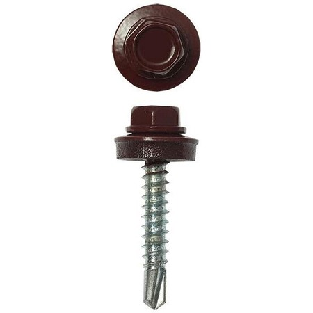 Купить Набор саморезов кровельных Stayer СКД для деревянной обрешетки. Цвет: шоколадный