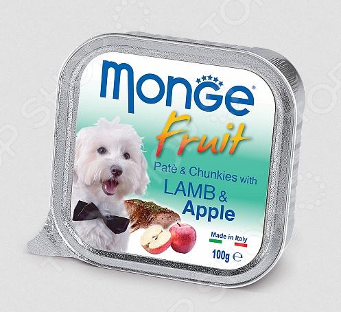 Fruit Pate & Chunkies wit Lamb & Apple Корм консервированный для собак Monge Fruit Pate & Chunkies wit Lamb & Apple