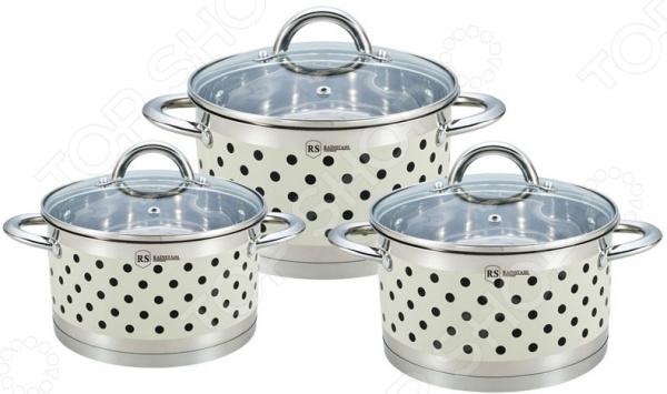 Наборы посуды для готовки Rainstahl 1626-06RS\CWCream набор посуды для готовки rainstahl rs 1955 08