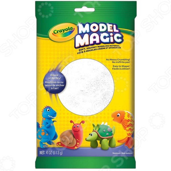 Пластилин застывающий Crayola «Волшебный» Пластилин застывающий Crayola «Волшебный» /Белый