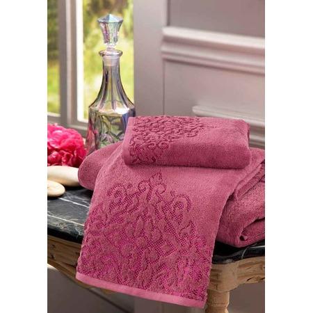 Купить Полотенце махровое Guten Morgen «Пейсли». Цвет: вишневый