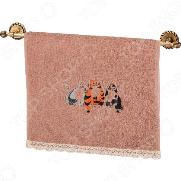 Полотенце махровое Santalino «Кошачьи посиделки» 850-600-42