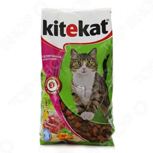 Корм сухой для кошек Kitekat «Телятинка аппетитная»