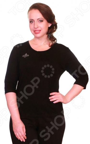 Блуза Матекс «Милка»: 2 шт. Цвет: черный, темно-синий