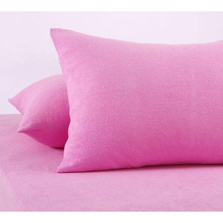 Купить Набор из 2-х наволочек ТексДизайн «Махра». Цвет: розовый