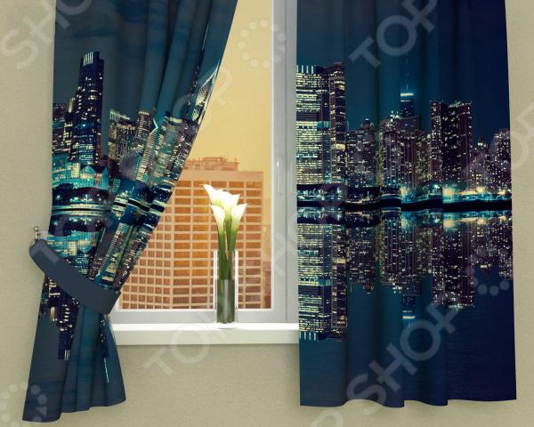 Фотошторы Сирень «Синее отражение»