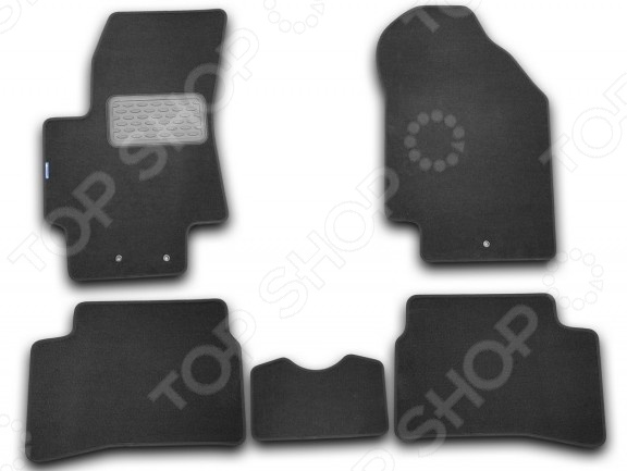Kia Rio III 2005-2011. Цвет: черный Комплект ковриков в салон автомобиля Novline-Autofamily Kia Rio III 2005-2011 седан, хэтчбек. Цвет
