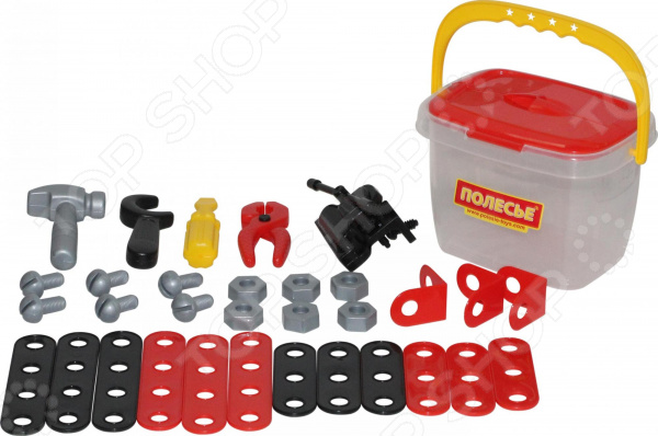 Игровой набор для мальчика Полесье в ведре «Механик»