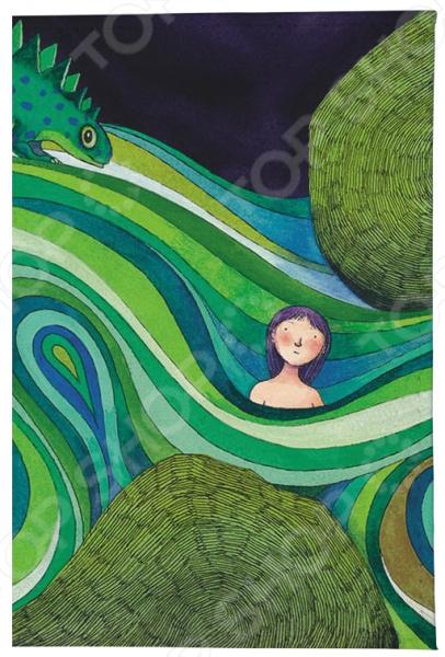 Обложка для автодокументов Mitya Veselkov «Девочка в зеленых волнах»